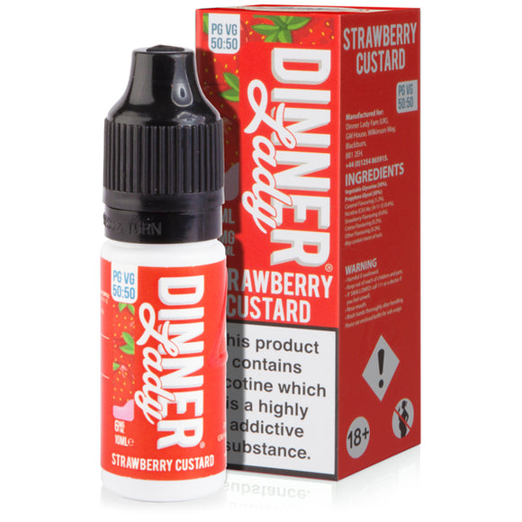 Strawberry Custard E-Liquid by Dinner Lady 50/50 - Vapolino UK