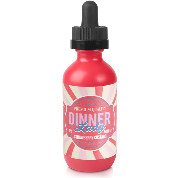 Strawberry Custard E-Liquid by Dinner Lady 50ml - Vapolino UK