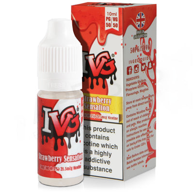 Strawberry Sensation E-Liquid by IVG 50/50 - Vapolino UK