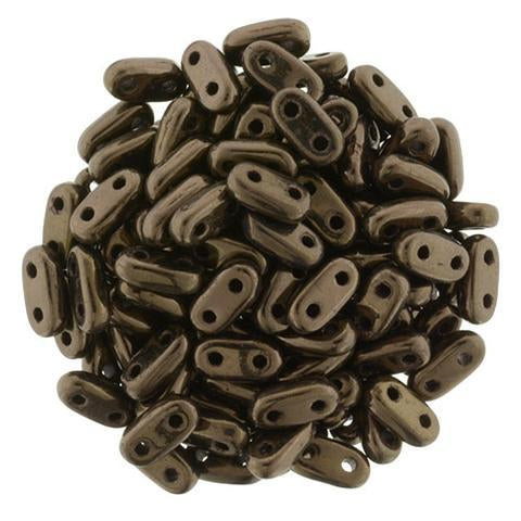 CMB6-14415  Metallic dark bronze - 100 beads