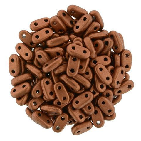 CMB6-K0175  Matte metallic antique copper - 100 beads