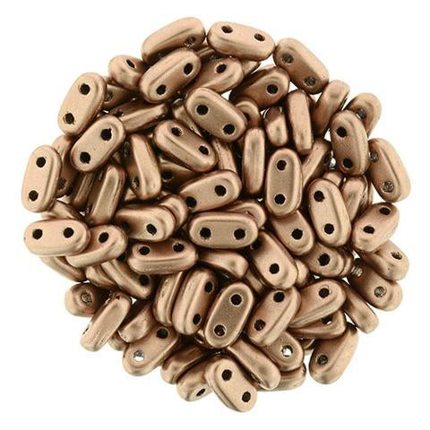CMB6-K0178  Matte metallic bronze copper - 100 beads