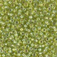 8-1014  Silver lined chartreuse AB - 35g