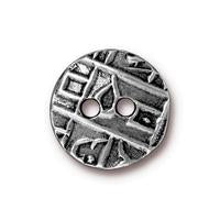 TC94-6558/40  Round coin button - oxidized pewter