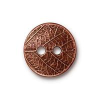TC94-6559/18  Round leaf button - antique copper