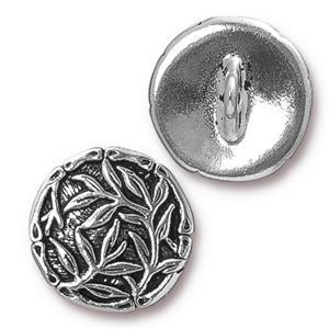 TC94-6569/12 Bamboo button - antique silver