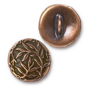 TC94-6569/18  Bamboo button - antique copper