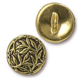 TC94-6569/26  Bamboo button - antique gold