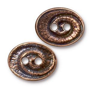 TC94-6574/18  Swirl button - antique copper