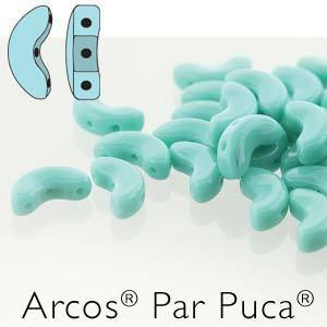 ARC510-63130 Opaque turquoise green - 25 beads