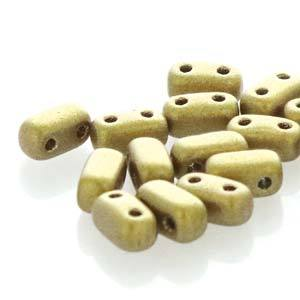 BRC-K0172  Matte metallic Aztec gold - 50 beads