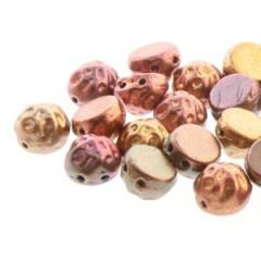 CCB07-30/01620 Dark gold rainbow - 25 beads