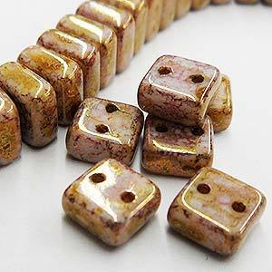 CHX06-02010/15695  Chalk bronze lumi - 25 beads