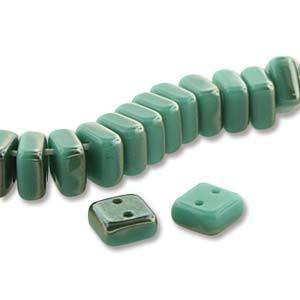 CHX20-22501  Turquoise green celsian - 25 beads