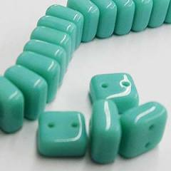 CHX06-63120  Opaque turquoise green - 25 beads