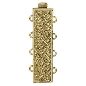 CLSP-38GP  Basketweave gold plate 4-strand