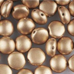 CND08-01710 Matte metallic pale gold - 20 beads