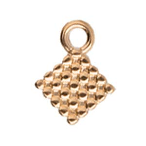 CYM-SQ-012205-RG / Rose gold FERO - Silky bead ending - 2 pcs