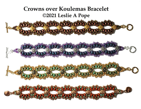 ILB-001  Crowns over Koulemas Bracelet