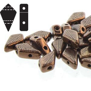 KT95-80/14415F Jet bronze laser feather - 50 beads