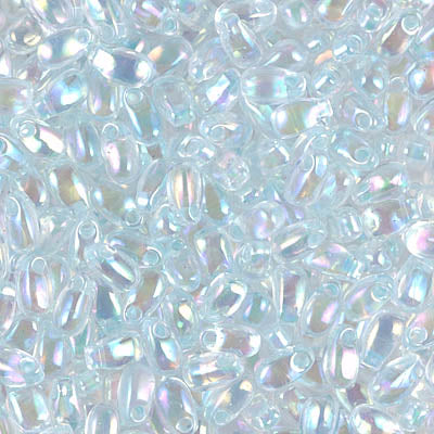 LDP-271 Lt mint green lined crystal AB - 10g