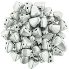 NB65-01700 Matte metallic silver - 50 beads
