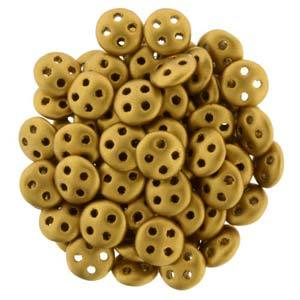 QUL06-K0174  Matte metallic antique gold - 50 beads