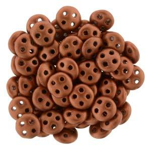 QUL06-K0175  Matte metallic antique copper - 50 beads0