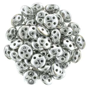 QUL06-27000  Metallic silver - 50 beads