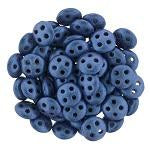 QUL06-79031  Blue metallic suede - 50 beads