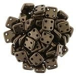 QUT06-14415  Metallic dark bronze - 50 beads