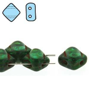 SQ206-20/86800  Teal Picasso - 40 beads