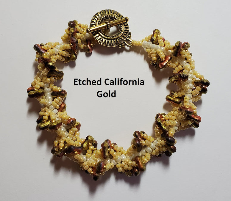 MK-012 Farfalle spiral - Etch California gold rush