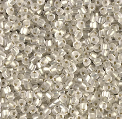 TR10-1101F  Matte silver lined crystal - 10g