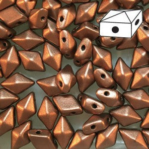 DD58-0178 Matte copper bronze - 50 beads