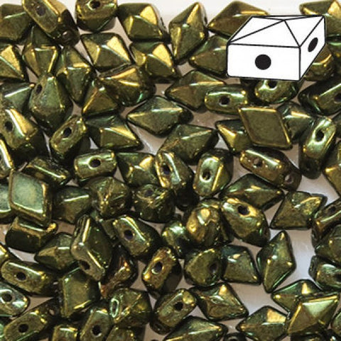 DD58-14495 Metallic dark olive - 50 beads
