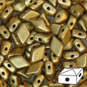 DD58-0172 Matte metallic gold - 50 beads