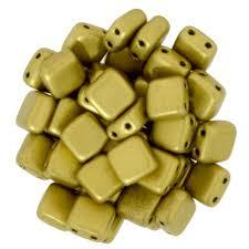 CZT06-K0172  Matte metallic Aztec gold - 25 beads