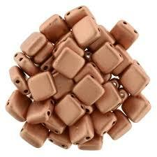 CZT06-K0177  Matte metallic copper - 25 beads