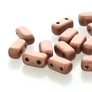BRC-K0177  Matte metallic copper - 50 beads