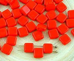 CZT06-93200  Opaque coral red - 25 beads