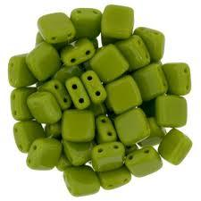 CZT06-53420  Opaque olive - 25 beads