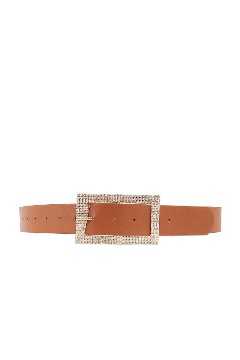 Fashion Rhinestone Square Buckle Belt - Fashion Quality Boutik