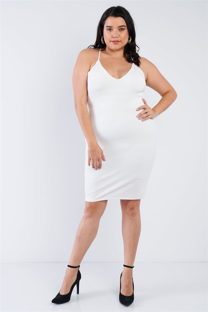 Plus Size Basic Bodycon Dress - Fashion Quality Boutik