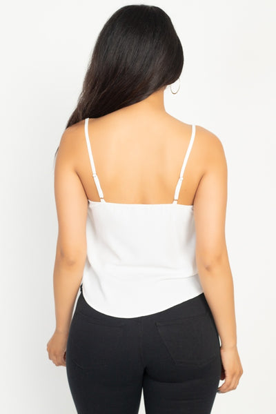 Scallop Opening Cami Top - Fashion Quality Boutik