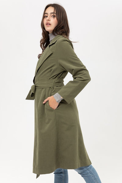 Trench Coat With Waist String Detail - Fashion Quality Boutik