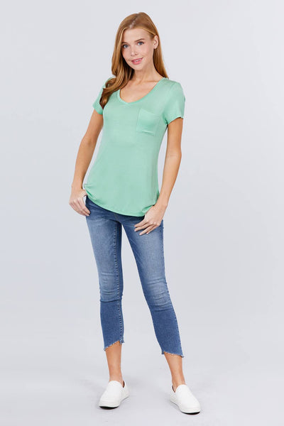 V-neck Rayon Jersey Top - Fashion Quality Boutik