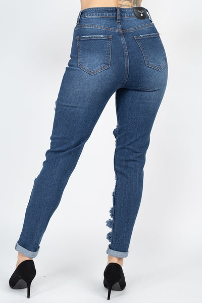 Distressed Straight Leg Jeans - Fashion Quality Boutik
