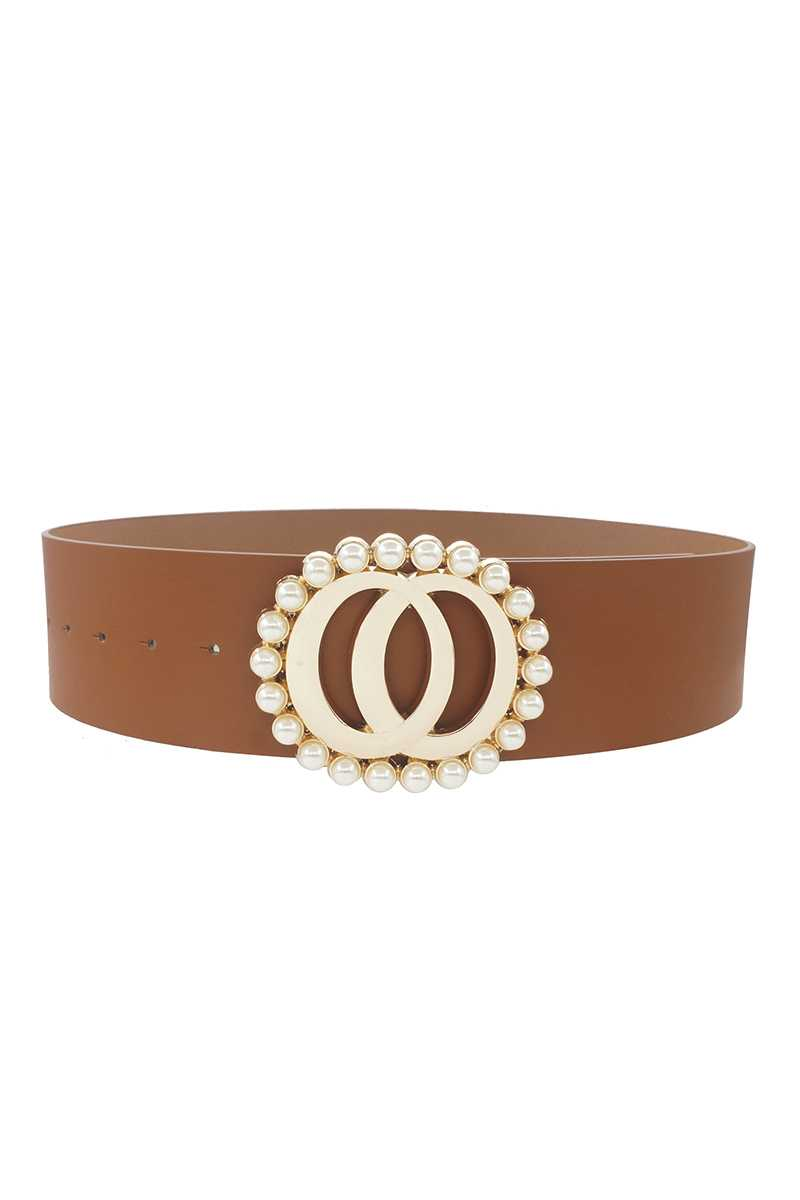 Fashion Double Joined Round Pearl Style Belt - Fashion Quality Boutik