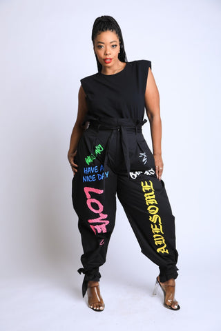 Graffiti Harem Pants